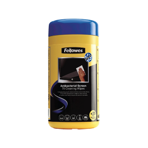 FELLOWES ANTIBACTERIAL SCREEN CLEANING WIPES