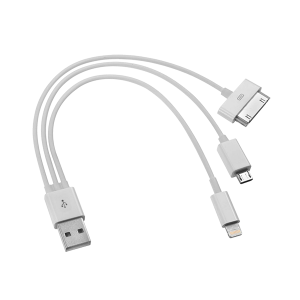 USB V2.0 TO MICRO USB/APPLE 30PIN/15CM