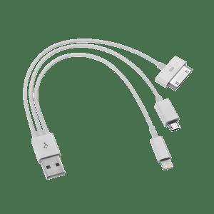 USB V2.0 TO MICRO USB/APPLE 30PIN/15CM