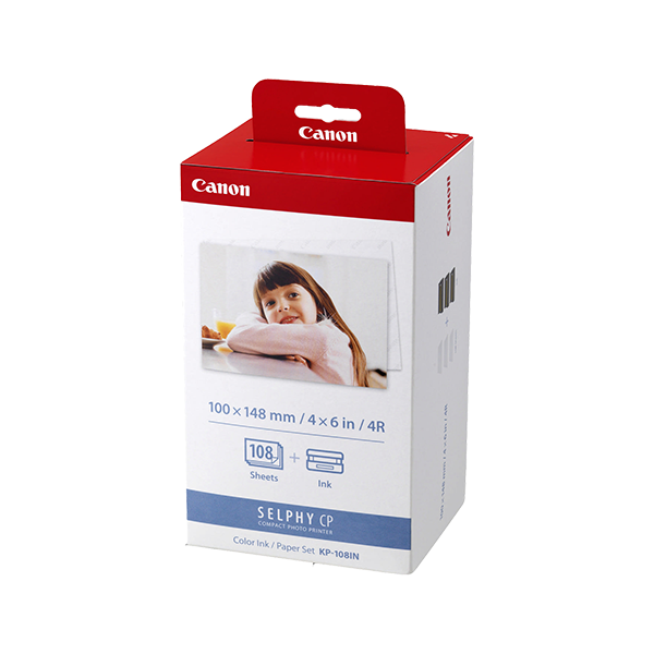 """CANON KP-108iP INK + PAPER (4"""" x 6"""" - 108 SHEETS)"""