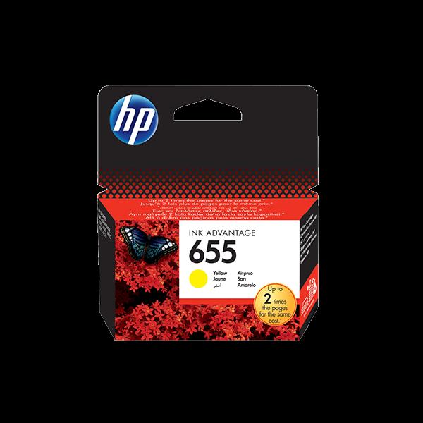HP 655 YELLOW INK ADVANTAGE CARTRIDGE