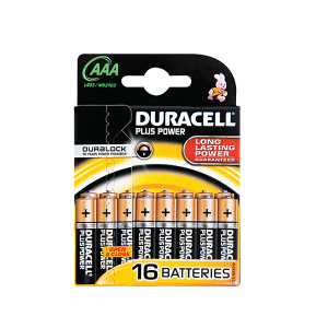 DURACELL PLUS POWER AAA 16'S