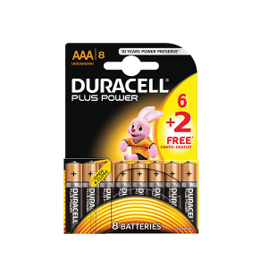 DURACELL PACK AAA 6+2 FREE BATTERIES