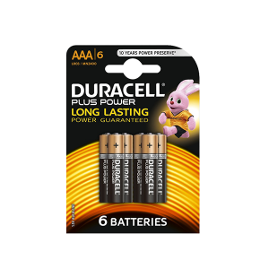DURACELL PLUS POWER AAA 6