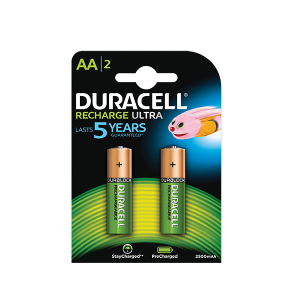 DURACELL RECHARGABLE AA 2 PACK