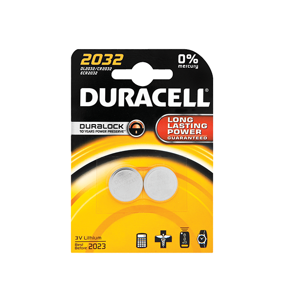 DURACELL LITHIUM COIN 2 PACK BATTERIES