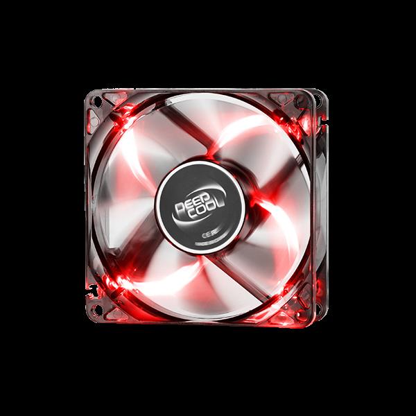 DEEPCOOL WIND BLADE 120MM BLK W/RED LED