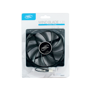 DEEPCOOL WIND BLADE 120MM BLK W/RED LED
