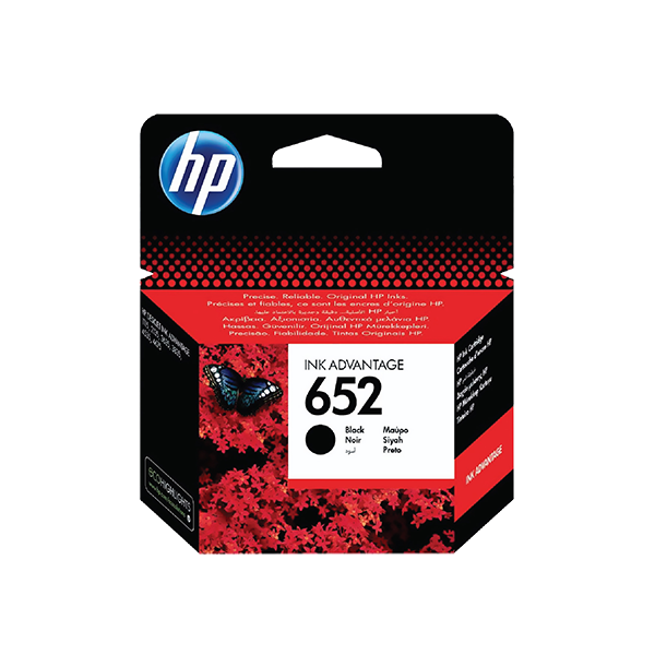 HP 652 BLACK ORIGINAL INK ADVANTAGE CARTRIDGE
