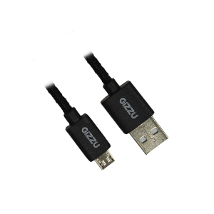 GIZZU GCMUB2M MICRO USB BRAIDED BLACK CABLE