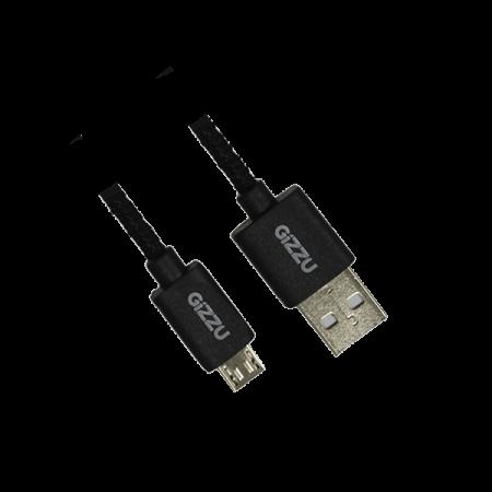 GIZZU GCMUB2M MICRO USB BRAIDED BLACK CABLE