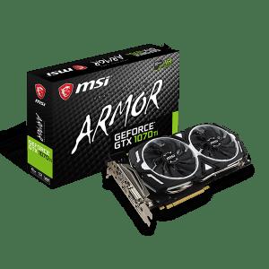 MSI GTX 1070 TI ARMOR 8GB GDDR5 256 BIT