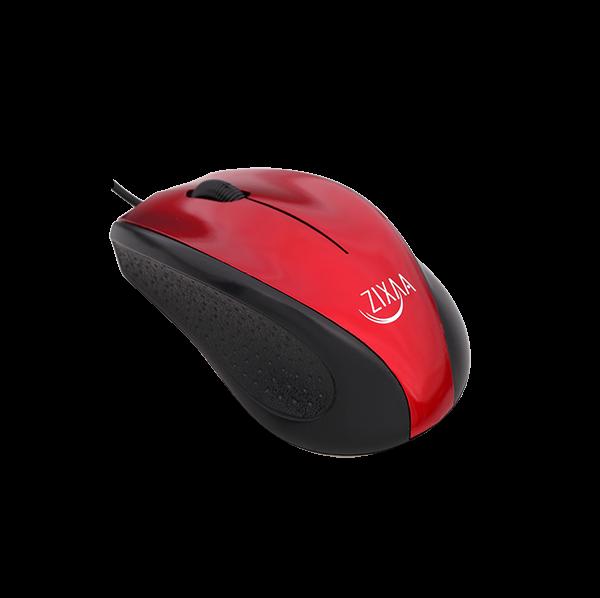 ZIXAA PS2 BLACK & RED OPTICAL MOUSE