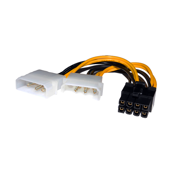 2X MOLEX TO 8 PIN POWER CABLE FOR GRAPHICS CARD