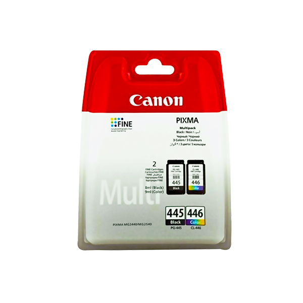 CANON PG-445/446 BLACK AND COLOUR PRINTER MULTI-PACK