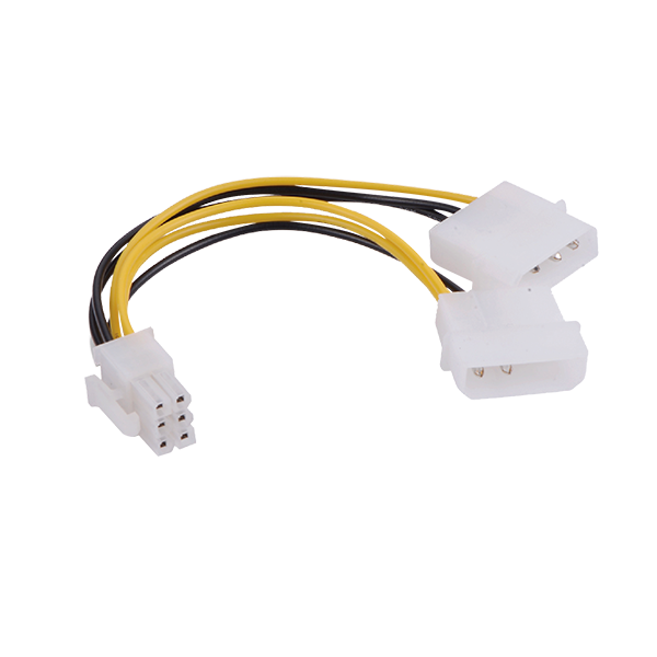 MOLEX 4 TO 6PIN CABLE FOR GPU POWER