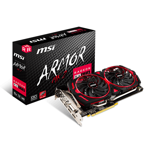 MSI RADEON RX 570 ARMOR DESKTOP GRAPHICS CARD