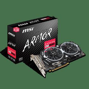 MSI RADEON RX580 8GB ARMOR OC GPU