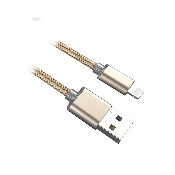 LDNIO APPLE LIGHTNING CABLE GOLD