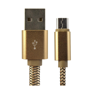 LDNIO FAST CHARGING DATA USBABLE MICROUSB 1 M - GOLD