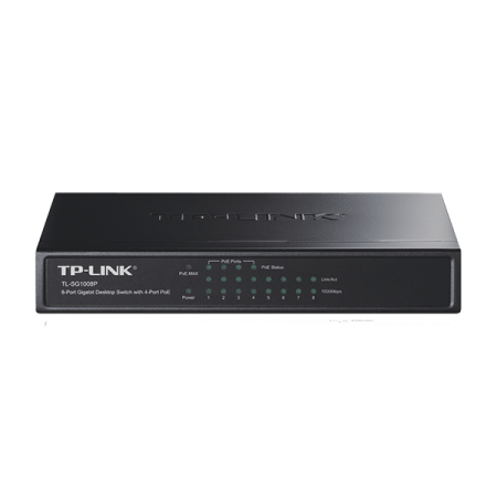 TP LINK TL-SF1008P 8-PORT 10/100MBPS DESKTOP SWITCH WITH 4-PORT PoE