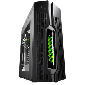 DEEPCOOL GENOME COMPUTER CASE BLACK/GREEN