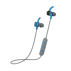 POLAROID BLUETOOTH IN EARS HEADPHONES GREY AND BLUE