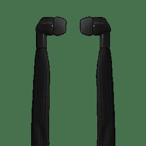 POLAROID SHOELACE EARPHONES BLACK