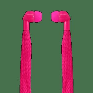 POLAROID SHOELACE EARPHONES PINK