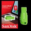SANDISK GREEN CRUZER BLADE 16GB