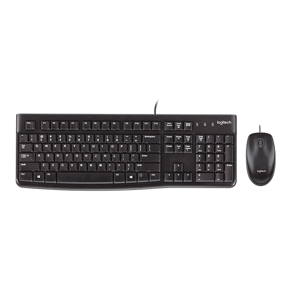 LOGITECH MK120 CORDED DESKTOP KEYBOARD & MOUSE COMBO