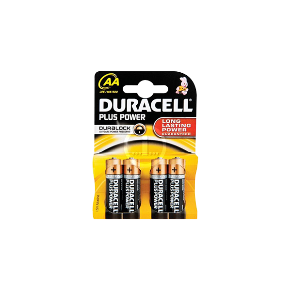 DURACELL AA 4 PACK BATTERIES