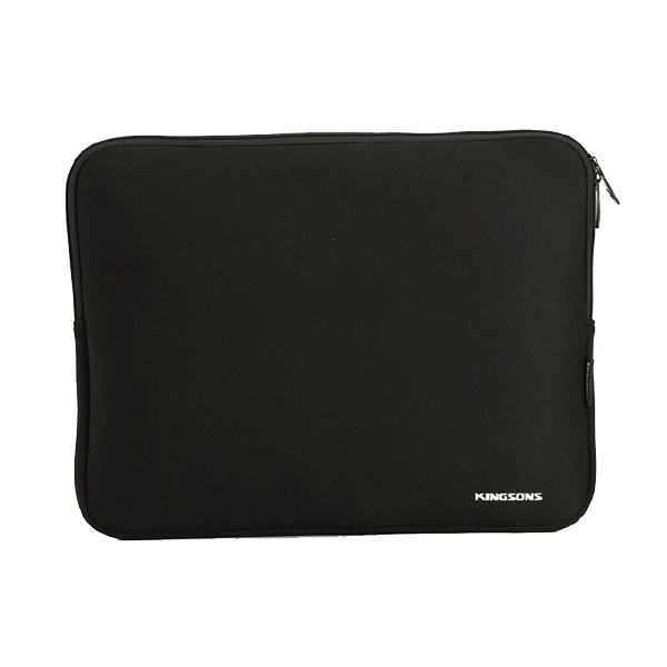 "KINGSONS EVERYDAY SERIES 15.6"" BLACK LAPTOP SLEEVE"