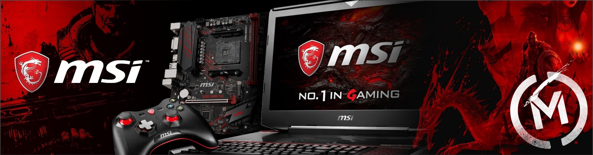 MSI PC Gaming Website Banner