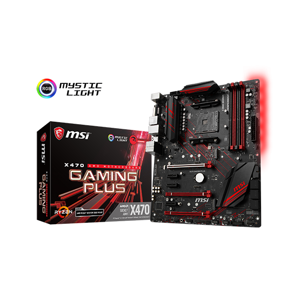 MSI X470 GAMING PLUS AMD AM4 MOTHERBOARD