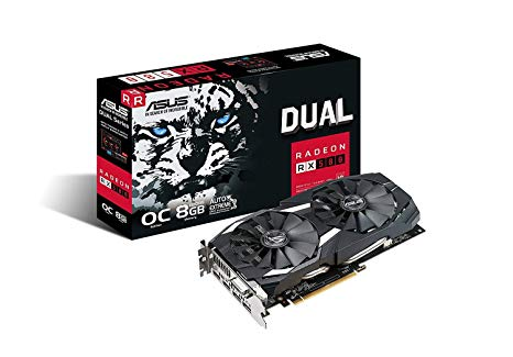 ASUS DUAL RADEON RX 580 8GB GRAPHICS CARD