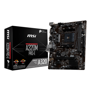 MSI A320M PRO-E AMD COMPUTER MOTHERBOARD