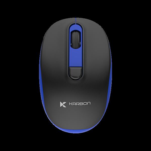 Karbon Oxygen Series Wireless Mouse Black & Blue 2