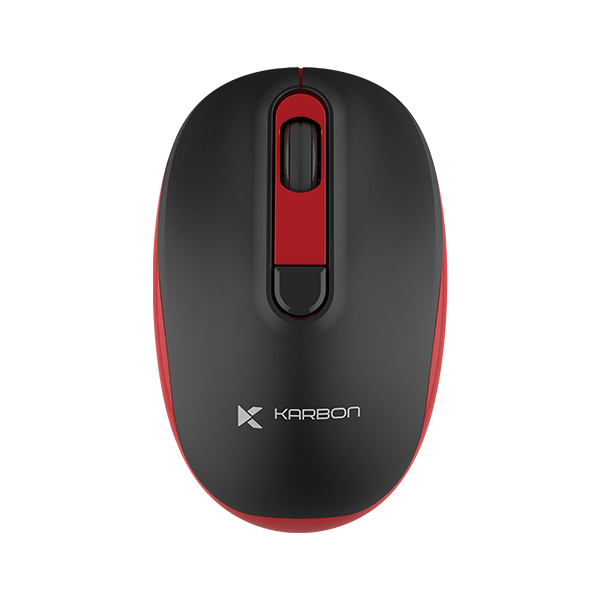 Karbon Oxygen Series Wireless Mouse Black & Red 1