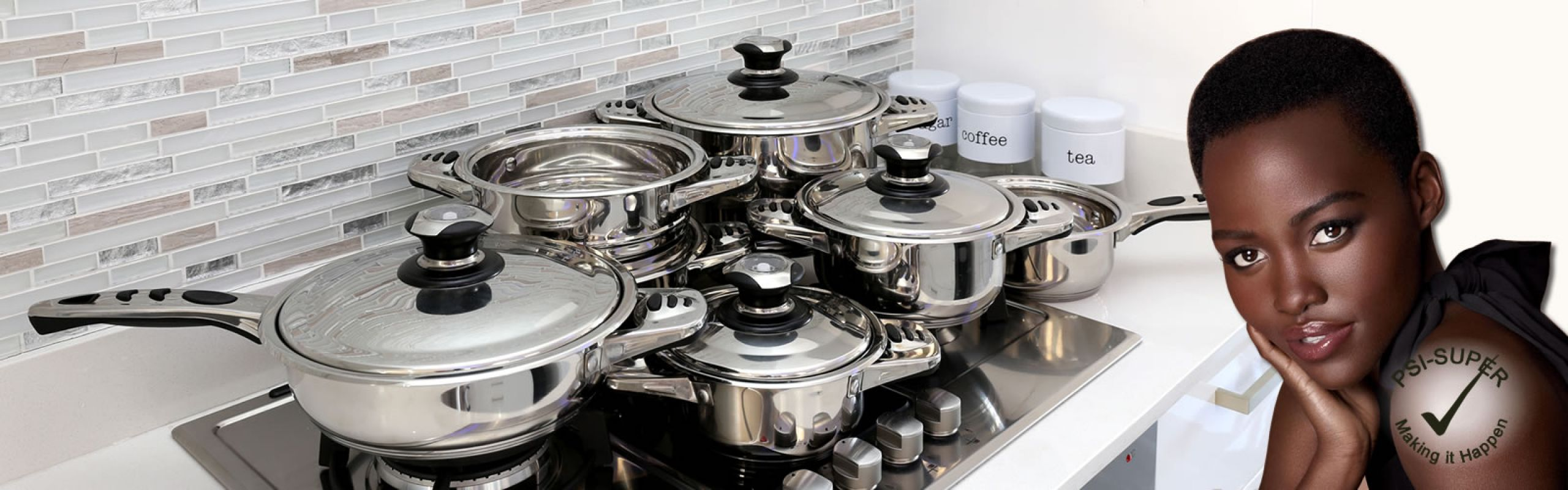 PSI-Super – 12 Piece 18 10 Stainless Steel Pots