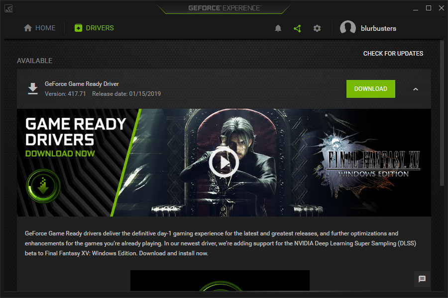 Nvidia graphic card drivers