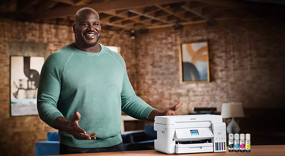 Shaq and Epson Printer