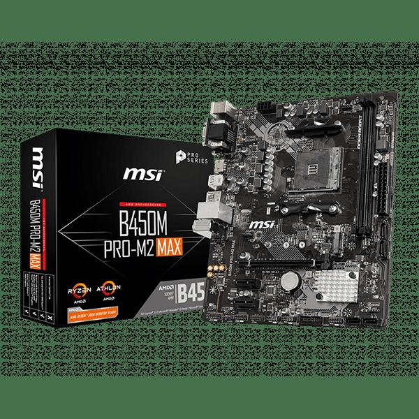 MSI B450M Pro-M2 Max AMD Motherboard 1