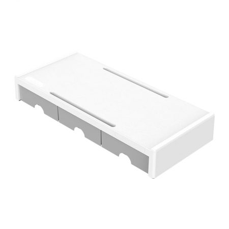 Orico Monitor Stand Riser White with Grey Draws