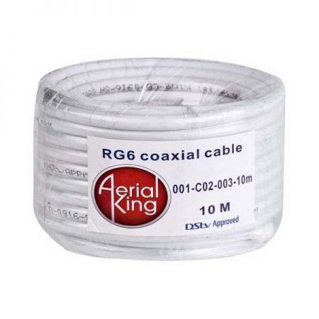 10M Blister Pack Cable RG6 White