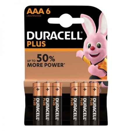 Duracell Plus Power AAA Batteries 6 Pack