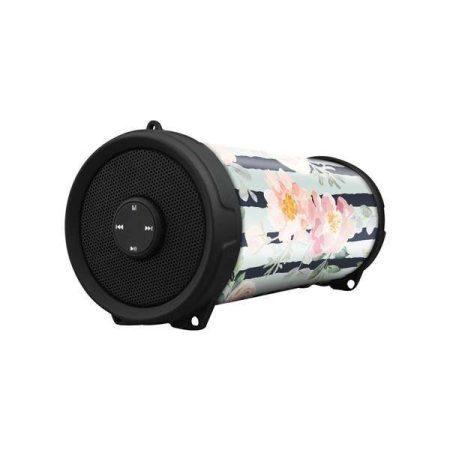 Volkano Mini Bazooka Bluetooth Speaker Floral Wrap