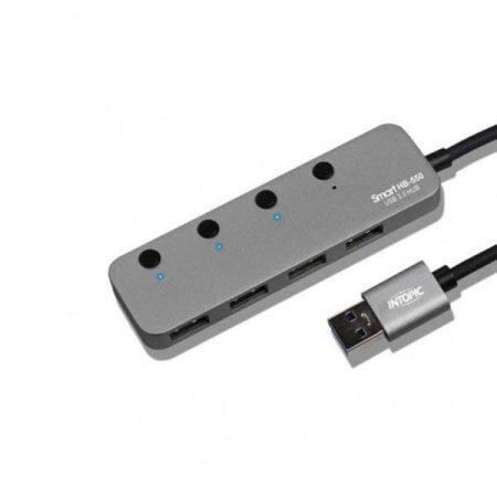 Intopic 4 Ports USB3.1 High-Speed Hub