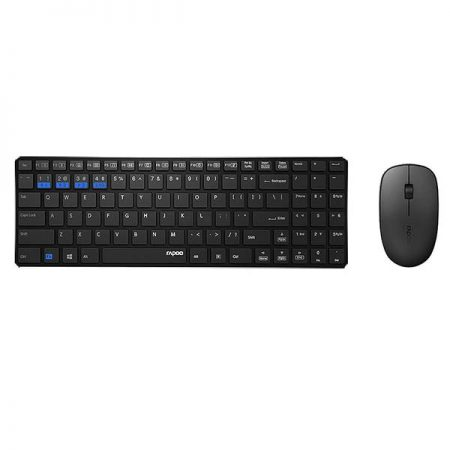 Rapoo 9300M Wireless Keyboard and Mouse Set - Black